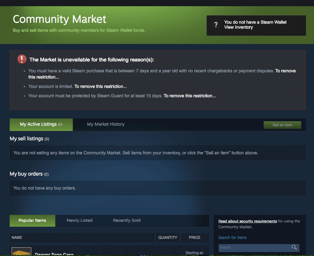 steam community market trading alert window