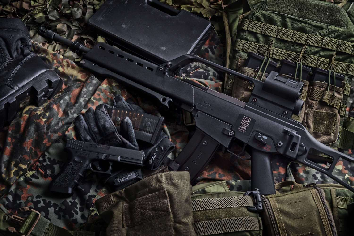 G36c with kit and german tactical vest
