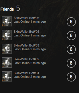 skinwallet bot steam account details