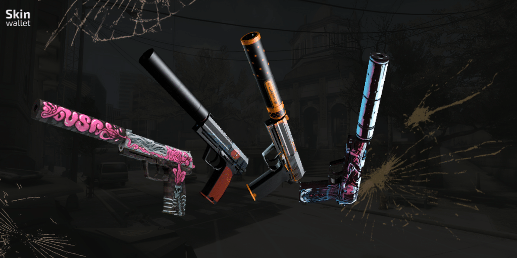 Four CSGO USPS - Cortext, Caiman, Orion and Neo-Noir