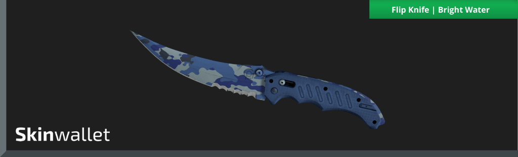 flip knife bright water csgo skin