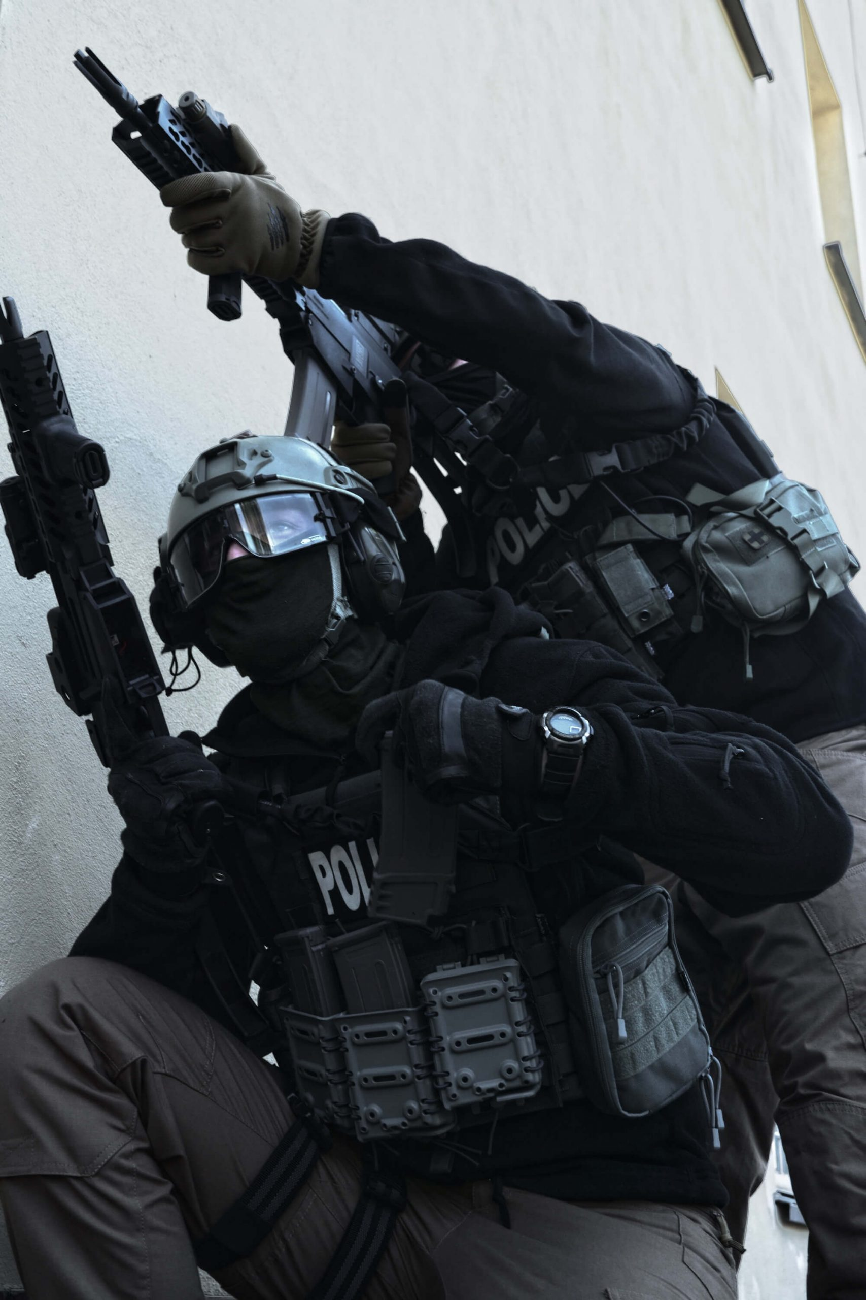 police officers breaching