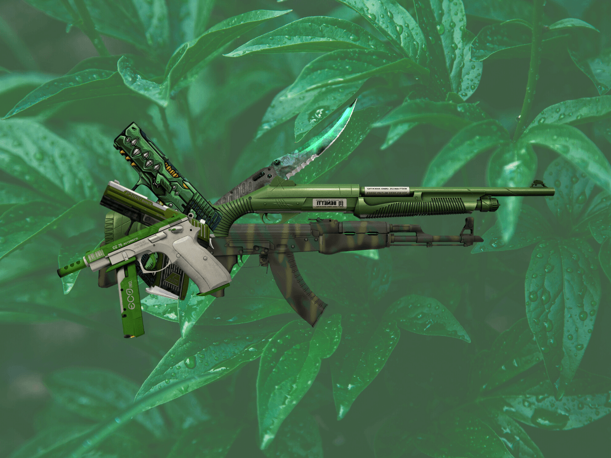 CSGO green skins