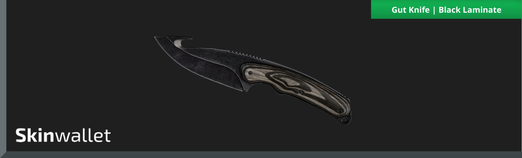 csgo gut knife black laminate skin