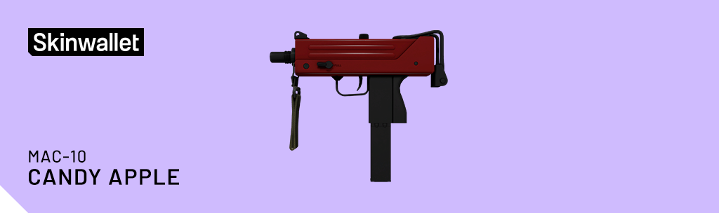 mac-10 candy apple csgo skin