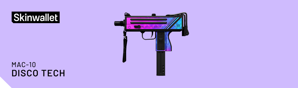 mac-10 disco tech csgo skin